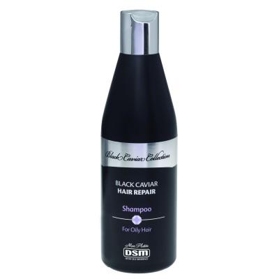 Восстанавливающий шампунь для жирных волос с экстрактом черной икры 400мл.