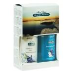 Подарочный набор для женщин для тела (Мыло-пилинг для тела (цветы) 400мл + Крем для массажа тела с чувственным ароматом 400мл)