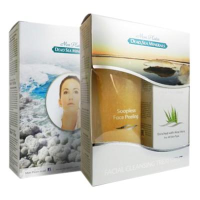 Подарочный набор для женщин для лица (Крем-пилинг для лица без  содержания мыла желтый 250мл + Грязевая маска для лица 150мл)