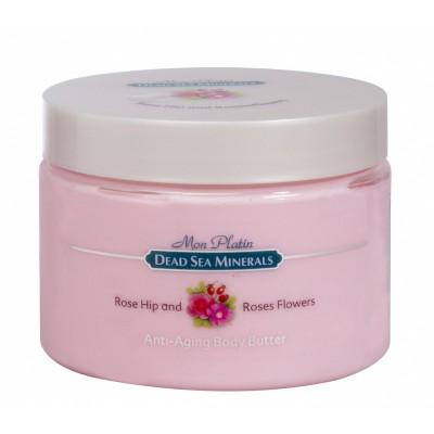 Масло для тела для предотвращения старения (анти-эйджинг) с розой и шиповником 300мл.