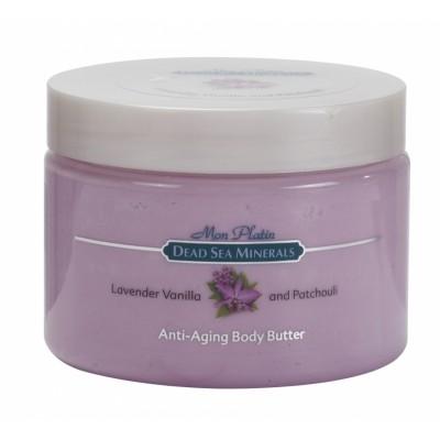 Масло для тела для предотвращения старения (анти-эйджинг) с лавандой, ванилью и пачули 300мл.